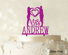 Mr & Mrs Couple Cake Topper Personalized Mirror Cake Topper Cake Decoration