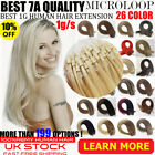 "16""-22"" DOUBLE DRAWN 1G/S Remy Micro Loop Ring Human Hair Extensions 1 Gram 100S"