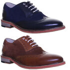 rJustin Reece Quentin Suede Lace up Designer Brogue Red Trim Size Uk 6 - 12