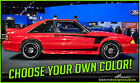Ford Mustang Saleen C Stripes Vinyl Decal 1979 - 1993