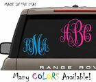 Your 3 Initials Monogram Vine Decal For Car Truck Window Vinyl Letter Big  photo