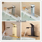 Deck Mounted Faucet Bathroom Basin Sink  Mixer Tap With 10'' Cover Plate