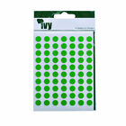 IVY 8mm Sticky Dot Labels Self Adhesive Stickers Circle Round Spot