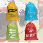 JUMBO LAUNDRY BAG SACK HEAVY DUTY DRAWSTRING REUSABLE STORAGE CLOTHES WASHING