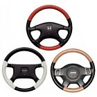 Custom Fit 1 or 2 Color Leather Steering Wheel Cover Wheelskins 15 1/4 X 4 1/4 $62.99 USD on eBay