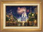 Thomas Kinkade Main Street USA 18 x 27 LE S/N Canvas Framed Walt Disney World