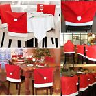 Wholesale 50Pcs Santa Clause Hat Chair Back Cover Xmas Dinner Table Party Decor