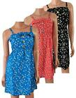 LOVELY BLACK PINK BLUE DITSY DAISY PRINT SUMMER TEA DRESS SIZE 6  8 10 12