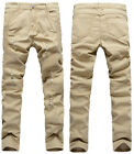 New Fashion Men Straight Slim Fit Jeans Long Trousers Casual Skinny Pencil Pants