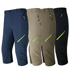 Men Quick Drying Breathe Athletic Trousers Outdoor Sports Hiking Cropped Pants