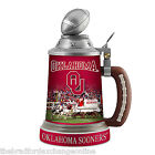 Oklahoma Sooners Commemorative Porcelain Stein With Sooners Logos And Photos