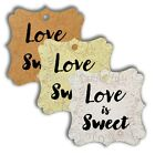 Elegant Square Love is Sweet Wedding Favour Gift Tags Bridal Shower Tags