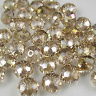 Jewelry Faceted 100 pcs Champagne AB #5040 3x4mm Roundelle Crystal Beads DIY A23