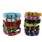 UP Leather Pure Color Cute Dog Pet Cat Puppy Collar Neck Buckle Adjustable