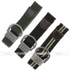 Mens Boys Military 3.5cm Leather-trimmed Canvas Waist Belt,Pin Buckle,100cm