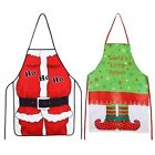 Christmas Santa Claus Elf Aprons Bib Creative Kitchen Bar Chef Gift Decoration