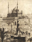 Mid 20th Century Etching - Mosque of Mohammad Ali