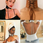 Retro Womens Gothic Leather Choker Collar Necklace Charm Pendant Jewelry Gifts