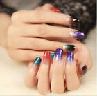 12Tips/Sheet Nail Art Manicure Decal Sticker Rainbow Dreams Bright Color Sheet