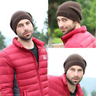 Mens Boys Thicken Winter Warm Plain Beanie Hip-hop Ski Knit Hat Cap