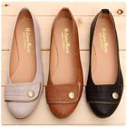 BN Womens Casual Comfy Cute Ballet FLATS BALLERINA Work Shoes Beige Black Brown
