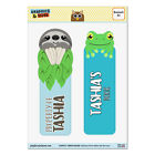 Set of 2 Glossy Laminated Sloth and Frog Bookmarks - Names Female Ta-Te
