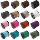 3mm Hot Genuine leather Suede Cord Beading Thread Lace Flat Jewellery Making DIY