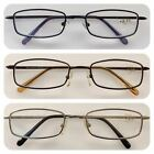 A34 Superb Quality Metal Frame Reading Glasses/Classic Style/Spring Hinges