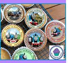 24 THOMAS TANK ENGINE 1ST BIRTHDAY CUPCAKE TOPPERS WAFER PAPER, ICING OR PRE-CUT