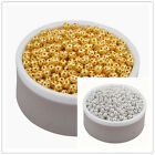 4/6/8/10mm Gold/Silver Plated Hollowed Filigree Round Ball Spacer Beads H83