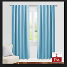 "3"" TAPE TOP in DUCK EGG BLUE  TEXTURED CURTAINS  FULLY LINED Baby / Light  Blue"