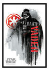 Framed Star Wars Rogue One Darth Vader Grunge Poster New £30.95 GBP