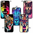 Portrait of a Male corlorful blue pink wolf Lion tiger Snap iPhone case cover