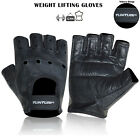 Weight Lifting GYM Leather Fitness Gloves Work Out Fitness Dry Drum Leather