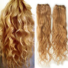100g Brazilian Virgin Natural Wave wavy Human Hair Weft Extensions #27 Blonde