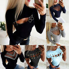 Sexy Women's Ladies Long Sleeve Shirt Plus Size Casual Blouse T-Shirt Tops Lot
