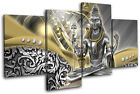 Lord Shiva Hindu Abstract Religion MULTI CANVAS WALL ART Picture Print