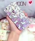GLITTER UNICORN Liquid Dips Skinny Dip Phone Case Cover For iPhone 5 5S 6 6S