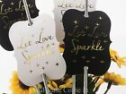 Gold Foil Hot Stamping Let Love Sparkler Wedding Sparkler Tags (White/Black)