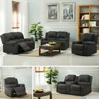 New Valencia Recliner Roxy Fabric Sofa Suites Light - Grey & Charcoal