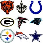 nEw NFL FOOTBALL TEAM LOGO WALL STICKERS - Sports Wall Accent Decal Set