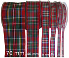 Stewart Royal Tartan Ribbon - various widths, cut lengths and 25m reels