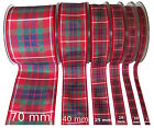 Fraser (or Frazer) Tartan Ribbon - various widths, cut lengths and 25m reels
