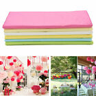 20 Sheets Tissue Paper Flower Wrapping Kids DIY Crafts Materials 6 Colors  lm