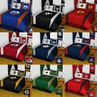 5pc NHL HOCKEY LOGO BEDDING SET - Sports Team Bed Comforter Sheets Pillowcase