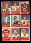 1963 FLEER FOOTBALL NEAR COMPLETE SET 79/88 NM *51364