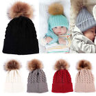 Baby Boy Kids Winter Warm Hat Fur Pom Bobble Knit Crochet Beanie Cap 4 Month-4Y