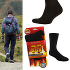 NEW BLACK MENS LADIES THERMO WARM CUSHION WALKING SKI HIKING THERMAL BOOT SOCKS