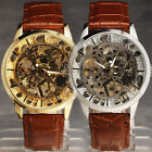 Classic Steampunk Skeleton Dial Cool New Fashion Leather Mechanical Watch ss2