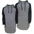 Mens Soulstar Zip Design Hooded Longline Casual Designer Sweatshirt Top